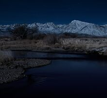 Owens River by Moonlight by Nolan Nitschke