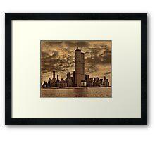 Downtown Manhattan, USA & WTC Towers, Circa 1979 Framed Print