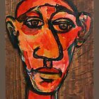 Head of an artist-expressive by Garry Andrews