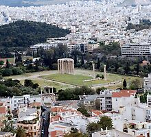 Temple of Olympian Zeus Athens, Greece  by andlux