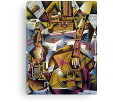 Still-life Ukulele and beer Canvas Print