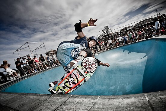 Steve Caballero THE MASTER in Bondi bowl for Van Bowl-A-Rama 2010 Comp by Martin K. Lee
