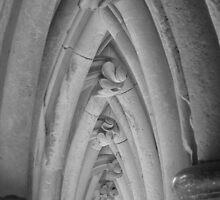 Cloister close-up, Mount St.Michel, France  by Charlie  Jeffs