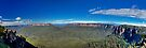 Jamison Valley The Blue Mountains - Wide Panorama by DavidIori