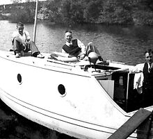 Boating on the River Ouse-York -1940's by Trevor Kersley
