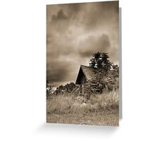 Scenic Landscape In Sepia Greeting Card