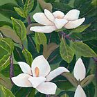 Magnolia II ~ Floral ~ Oil Painting by Barbara Applegate
