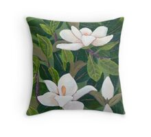 Magnolia II ~ Floral ~ Oil Painting Throw Pillow