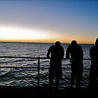3 boys...... Brighton Beach Sunset January 2010 by blueIris