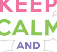 Keep Calm and Eat Cupcakes     Sticker