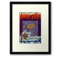 Leaf and Two Flowers Framed Print