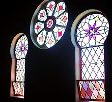 Penguin Uniting Church Keyhole Windows by michellerena