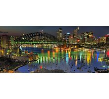 Experiment in Light - Panoramic - Moods Of A City - THE HDR Experience Photographic Print