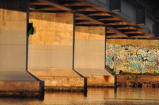 Fennel Bay Bridge - Lake Macquarie NSW by Bev Woodman