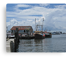 Wanchese Fishing Canvas Print
