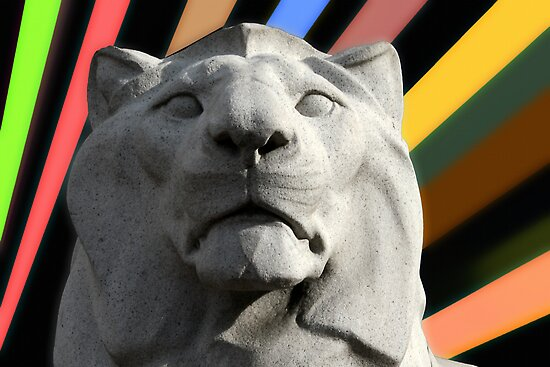 Lion Statue - Cenotaph, George Square, Glasgow by simpsonvisuals