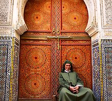 Zaouia Moulay Ahmed Tijani door by jeromelorieau