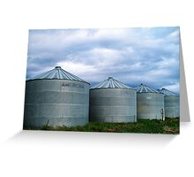 Montana Farm Silos Greeting Card