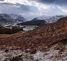 Winter's Icy Grip - Borrowdale, Cumbria by David Lewins