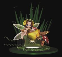 Call me -  Fairy Sat On Phone Using Mobile by Moonlake