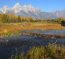 The Tetons In Autumn by Stephen Vecchiotti