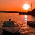 Sunset over Topsham by Michelle Lovegrove