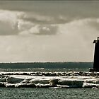 Manistique Light by Theodore Black