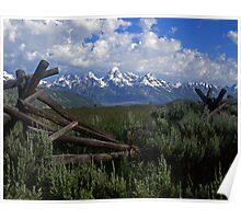 Teton and Fence #4 Poster