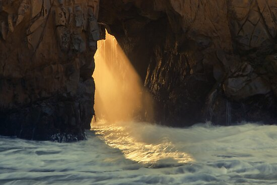 Ocean Door & Golden Light by Vincent James