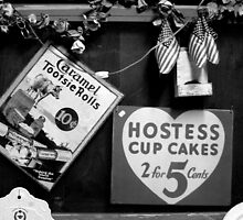 Hostess Cup Cakes and Tootsie Rolls by Dana Roper