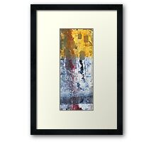 So Gradual The Grace - abstract mixed media painting on canvas Framed Print