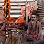 Sadhus. Allahabad by Claude  Renault