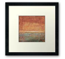 Another Time - abstract oil painting on canvas Framed Print