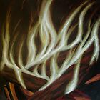 Fall Fire - charcoal and color pencil by th3pooka