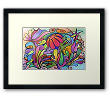 Rabbit Dreams - Card Framed Print