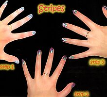 stripe nail design by xxnatbxx