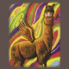The Flying Llama Dude by JSchultz