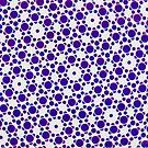 Silicon Atoms Blue White by atomicshop