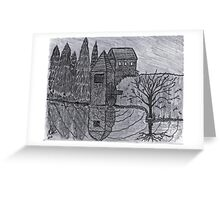 COBBLESTONE MILL Greeting Card