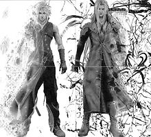 Cloud and Sephiroth by Brian Lucas