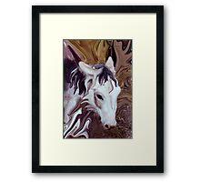 my little donkey Framed Print