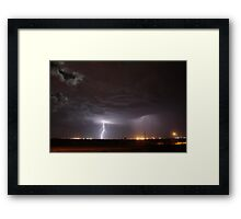 Lightning Crash Boom Framed Print