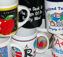 Retired Teacher Has Many Mugs by Debbie Meyers