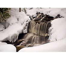 Wagner Falls Frozen 2 Photographic Print