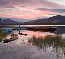 Sunrise on the Huon River at Franklin by Chris Cobern