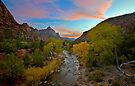 Zion Bridge View at Sunset by Zane Paxton