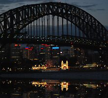 Sydney harbour bridge & Luna Park at Night by Brandie1