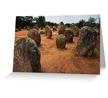 Cromeleque dos Almendres, Evora, Alto Alentejo, Portugal Greeting Card