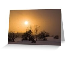 Snow Squaw Sunset Greeting Card