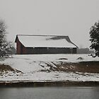 Snow Covered Barn - Salado, Texas by Patricia Miller
